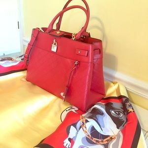 NWT Michael Kors Gramercy large leather satchel.